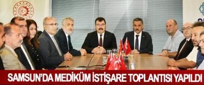 Samsun'da Mediküm İstişare Toplantısı Yapıldı