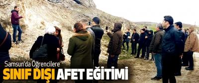 Samsun'da Öğrencilere Sınıf Dışı Afet Eğitimi