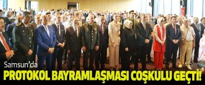 Samsun'da protokol bayramlaşması coşkulu geçti!