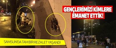Samsun'da Tam Bir Rezalet Yaşandı