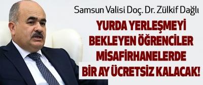 Samsun'da yurda yerleşmeyi bekleyen öğrenciler misafirhanelerde bir ay ücretsiz kalacak!