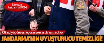Samsun'daJandarma'nın  uyuşturucu temizliği!