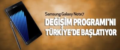 Samsung, Galaxy Note7 Değişim Programı'nı Türkiye'de Başlatıyor