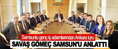 Samsunlu genç iş adamlarından Ankara turu