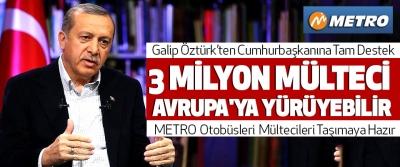 Samsunlu işadamı Galip Öztürk'ten Erdoğan'a tam destek