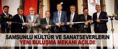 Samsunlu Kültür Ve Sanatseverlerin Yeni Buluşma Mekanı Açıldı!