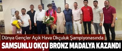 Samsunlu Okçu Bronz Madalya Kazandı