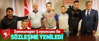 Samsunspor 5 oyuncusu ile Sözleşme Yeniledi