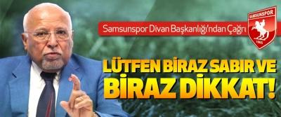 Samsunspor Divan Başkanlığı'ndan Çağrı