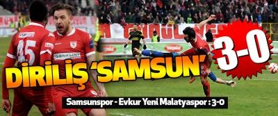 Samsunspor - Evkur Yeni Malatyaspor : 3-0
