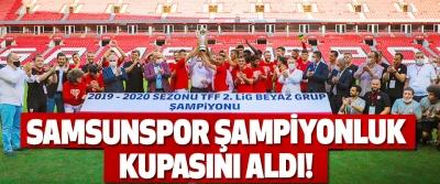 Samsunspor Şampiyonluk Kupasını Aldı!