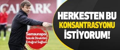 Samsunspor Teknik Direktörü Ertuğrul Sağlam