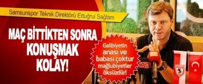 Samsunspor Teknik Direktörü Ertuğrul Sağlam Maç Bittikten Sonra Konuşmak Kolay!