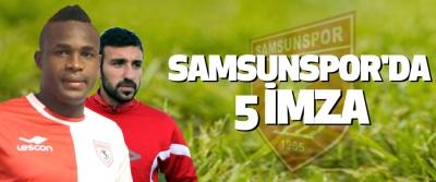 Samsunspor'da 5 İmza