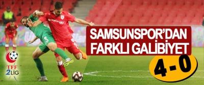 Samsunspor'dan Farklı Galibiyet