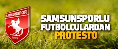 Samsunsporlu Futbolculardan Protesto