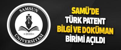 Samü'de Türk Patent Bilgi Ve Doküman Birimi Açıldı