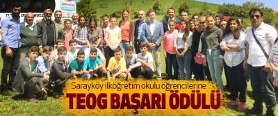 Sarayköy ilköğretim okulu öğrencilerine Teog Başarı Ödülü