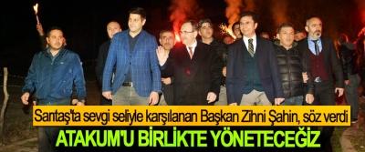 Sarıtaş'ta sevgi seliyle karşılanan Başkan Zihni Şahin, söz verdi; Atakum'u Birlikte Yöneteceğiz