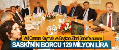 SASKİ'nin Borcu 129 Milyon Lira