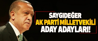Saygıdeğer Ak Parti Milletvekili Aday Adayları!