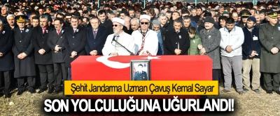 Şehit Jandarma Uzman Çavuş Kemal Sayar Son yolculuğuna uğurlandı!