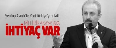 Şentop, Canik'te Yeni Türkiye'yi anlattı