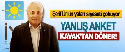Şerif Ün'ün yalan siyaseti çöküyor; Yanlış anket Kavak'tan döner!