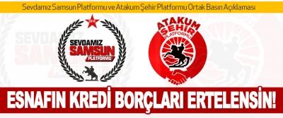 Sevdamız Samsun Platformu ve Atakum Şehir Platformu Ortak Basın Açıklaması