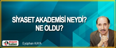 Siyaset Akademisi Neydi? Ne Oldu?