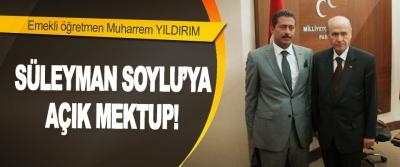 Süleyman Soylu'ya Açık Mektup!