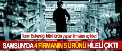 Tarım Bakanlığı hileli ürün yapan firmaları açıkladı, Samsun'da 4 firmanın 5 ürünü hileli çıktı!