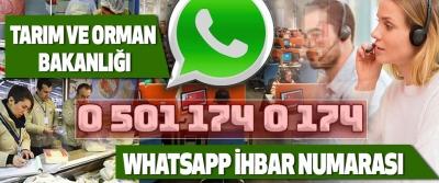 Tarım Ve Orman Bakanlığı Whatsapp İhbar Numarası
