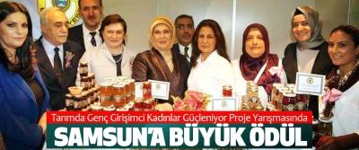 Tarımda Genç Girişimci Kadınlar Güçleniyor Proje Yarışmasında Samsun'a Büyük Ödül