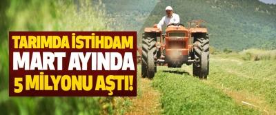Tarımda istihdam mart ayında 5 milyonu aştı!