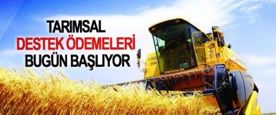 Tarımsal Destek Ödemeleri Bugün Başlıyor
