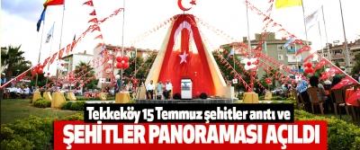 Tekkeköy 15 Temmuz şehitler anıtı ve Şehitler Panoraması Açıldı