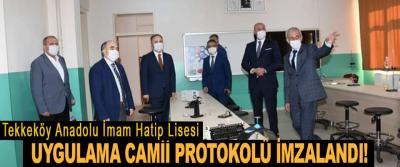 Tekkeköy Anadolu İmam Hatip Lisesi Uygulama Camii Protokolü İmzalandı!