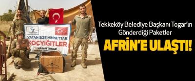 Tekkeköy Belediye Başkanı Togar'ın  Gönderdiği Paketler Afrin'e Ulaştı!