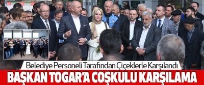 Tekkeköy Belediye Başkanı Hasan Togar'a Coşkulu Karşılama