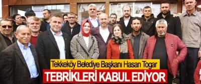Tekkeköy Belediye Başkanı Hasan Togar Tebrikleri Kabul Ediyor