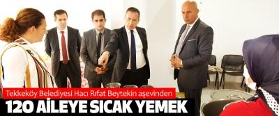 Tekkeköy Belediyesi Hacı Rıfat Beytekin aşevinden 120 Aileye Sıcak Yemek