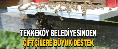 Tekkeköy Belediyesinden Çiftçilere Büyük Destek