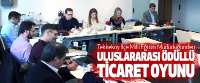 Tekkeköy İlçe Milli Eğitim Müdürlüğünden uluslararası ödüllü ticaret oyunu