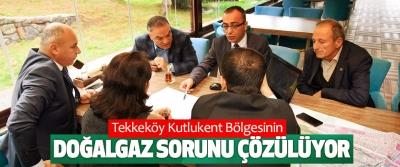 Tekkeköy Kutlukent Bölgesinin Doğalgaz Sorunu Çözülüyor
