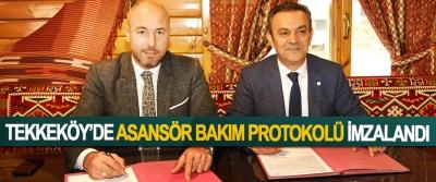 Tekkeköy'de Asansör Bakım Protokolü İmzalandı