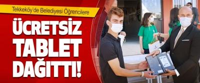 Tekkeköy'de Belediyesi Öğrencilere Ücretsiz Tablet Dağıttı!