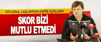 Teknik Direktör Ertuğrul Sağlam'dan Kritik Açıklama