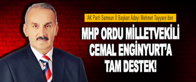 Teyyare'den Mhp Ordu Milletvekili Cemal Enginyurt'a Tam Destek!