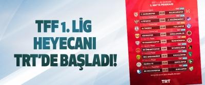 TFF 1. Lig heyecanı TRT'de başladı!